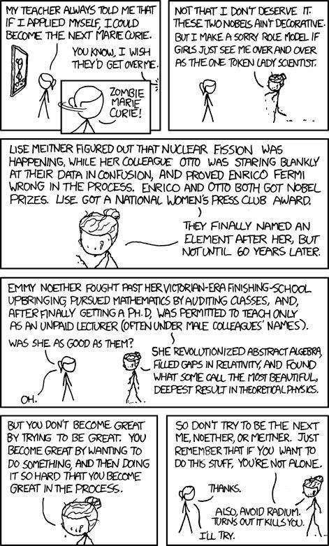 XKCD - Zombie Marie Curie comic strip